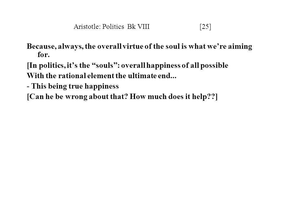 Aristotle: Politics Bk VIII [25]
